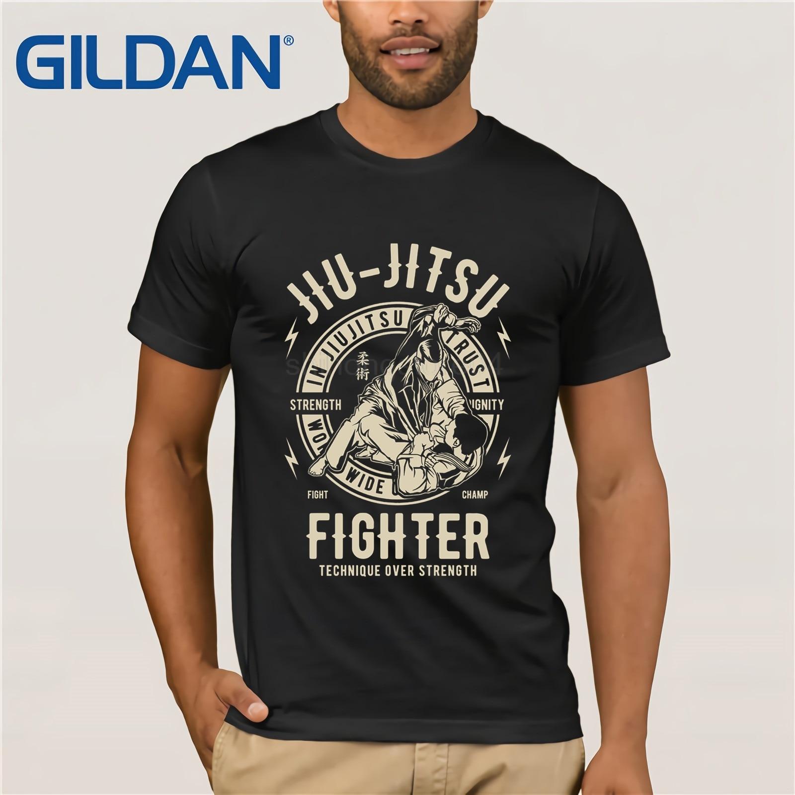 ae2495d4 Short Sleeve Cool Casual JIU JITSU T SHIRT BJJ TEE Brazilian Jiu Jitsu T- Shirt O-Neck T Shirt Men