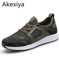 Akexiya Super New 2017 Men Casual Shoes Canvas Camouflage Star Style Male Shoes Comfort Soft Walking