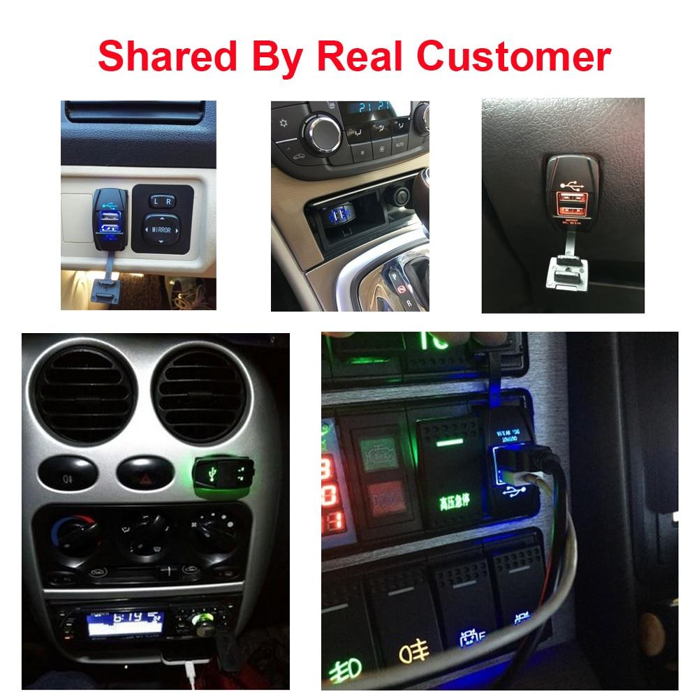 Universal Tahan Air Charger Mobil Dual Port Auto Adaptor Outlet DC 12 - Aksesori dan suku cadang ponsel - Foto 6