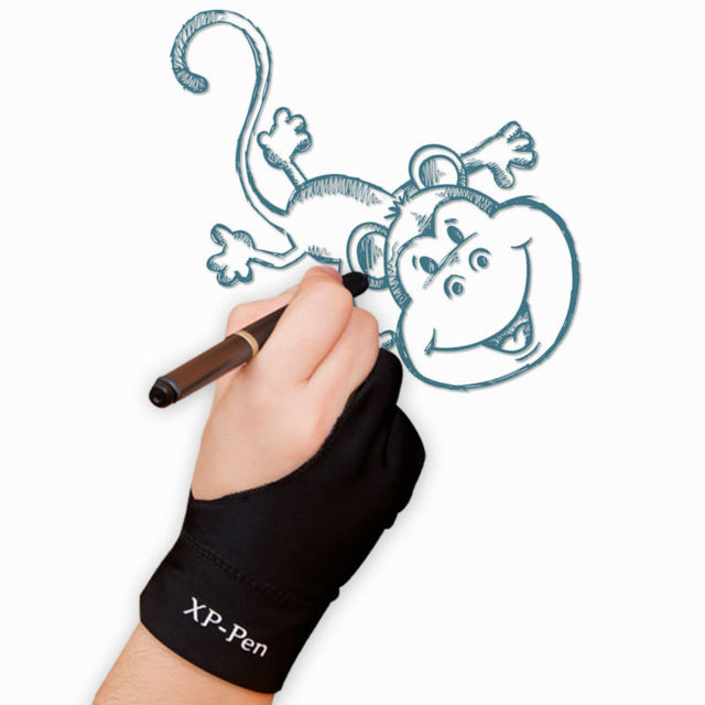 Xp Pen Artist Anti Fouling Lycra Glove For Drawing Tablet Display