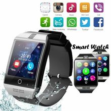 Bluetooth Touch Screen Smart Watch Q18  With Touch Screen Big Battery Support TF Sim Card Waterproof For Android iPhone Samsung цена