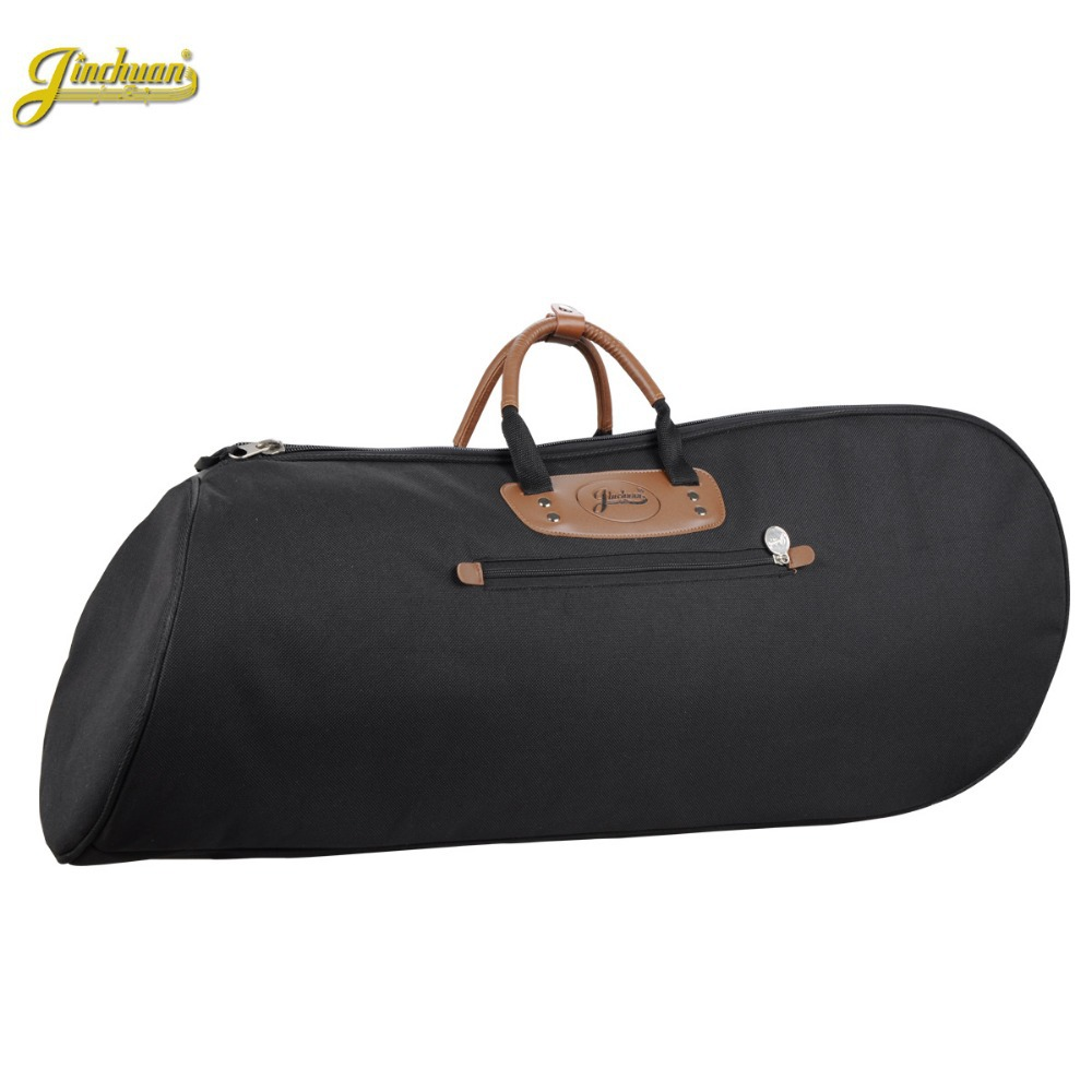 Good quality Professional protable  waterproof 4 flat key Baritone gig bag bass trumpet soft case cover shoulders with straps 2 pcs of new tenor trombone gig bag lightweight case black