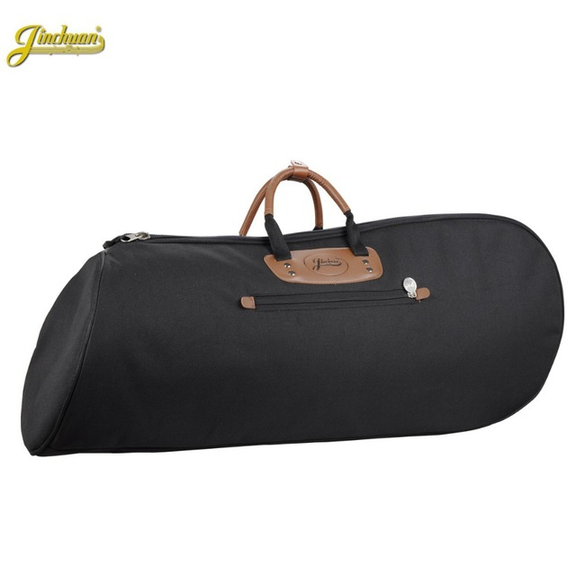 Good quality Professional protable  waterproof 4 flat key Baritone gig bag bass trumpet soft case cover shoulders with straps