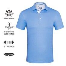 EAGEGOF Мужская быстросохнущая футболка для гольфа, мужская спортивная одежда с коротким рукавом, мягкая классическая цветная одежда