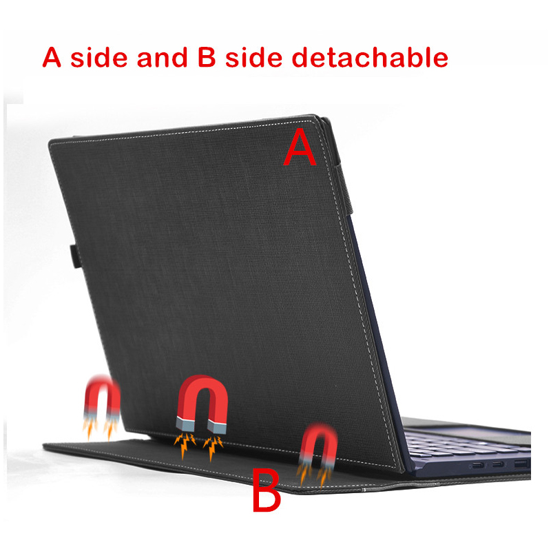 Housse détachable pour Lenovo ThinkPad X1 Yoga 2017 14 pouces pochette pour ordinateur portable sacoche pour ordinateur portable tablette PU cuir protection peau cadeau - 2