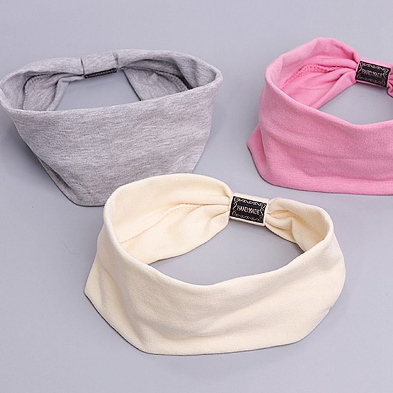 Women Elegant Solid Cotton Soft Hair Bands Casual Comfortable Headband Turban Bandanas Hair Holder Fashion Hair Accessories