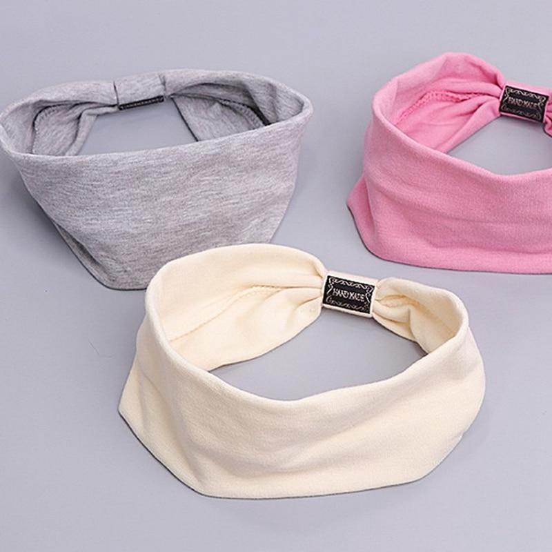Women Elegant Solid Cotton Soft Hair Bands Casual Comfortable Headband Turban Bandanas Hair Holder Fashion Hair Accessories
