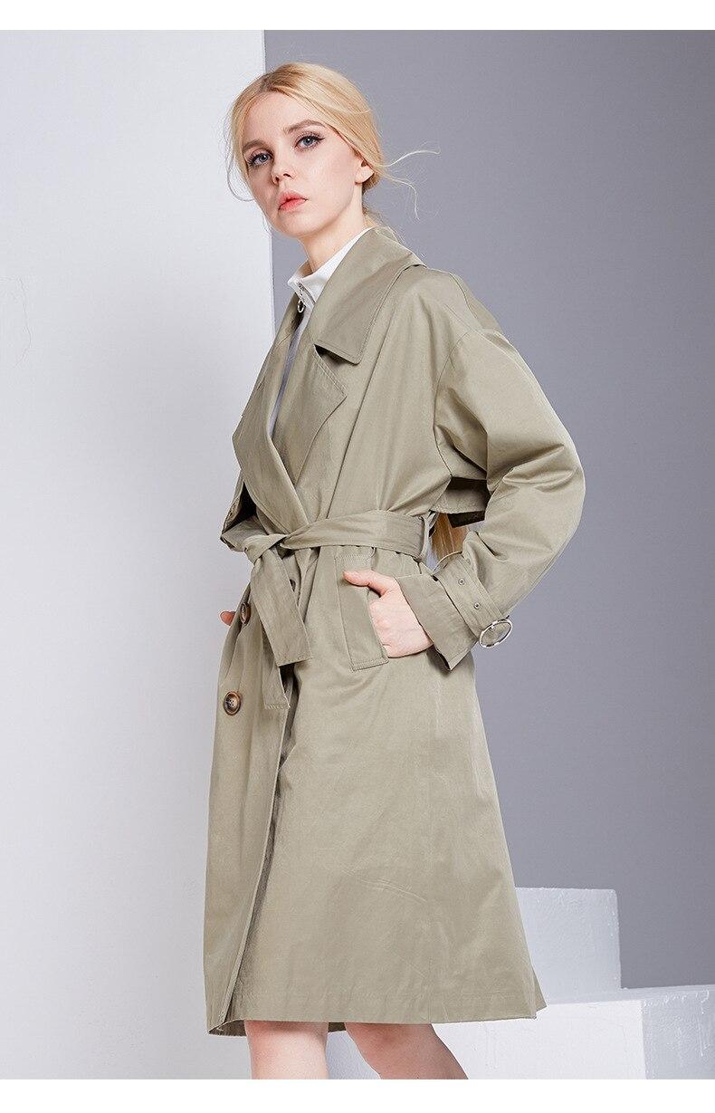 Imperméable Marque Couture Affaires Breasted Classique Nouvelle 85425 Haute Femme De Manteau Double Tranchée Vêtements Automne Qualité 2018 qwxI60
