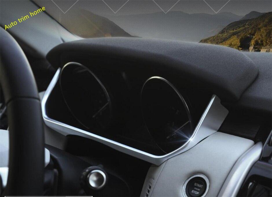 Lapetus For Land Rover L462 Discovery 5 2017 2018 ABS Matte Dashboard U Shape Decoration Strip Molding Garnish Cover Trim 1 Pcs