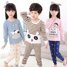 614ea08fbaedea Zima piżamy dziecięce Piżamy Dużych Chłopców Dziewczyny Piżama Ustawia  100-150 cm Dzieci Ubrania Nocna Homewear Maluch Ubrania G..