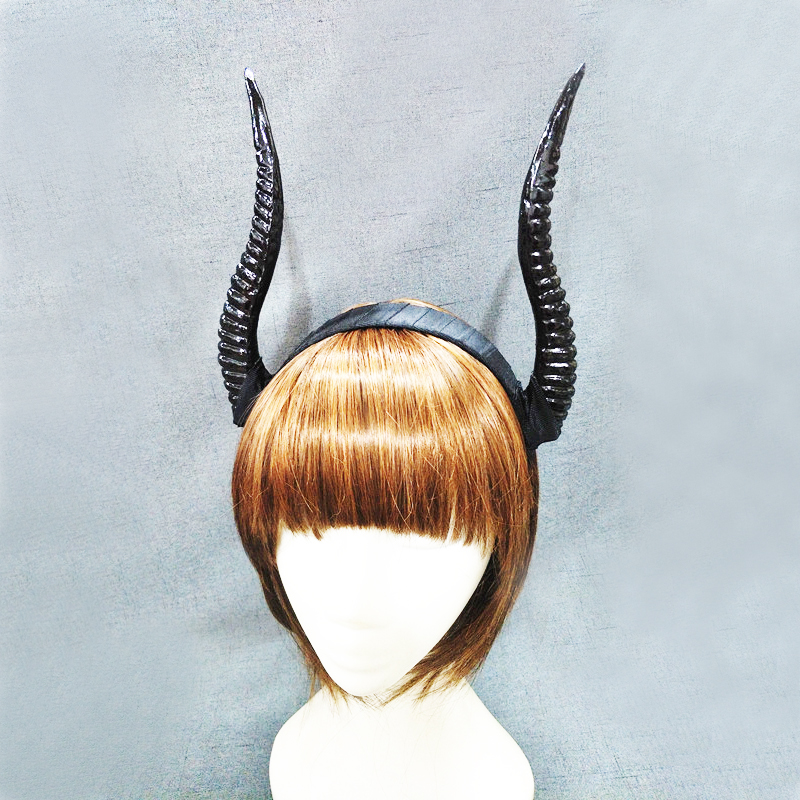 Restyle Gothic Horns Headband Punk   Headwear   Antler Headpiece Halloween Accessories