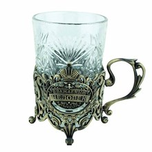 [Respected man] Important meeting use Keepsake Carve patterns gup and Hollow metal cup holder craft souvenirs for VIP