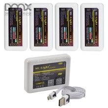 Mokungit 2.4 Г Milight Wi-Fi LED Контроллер и 4 Шт. RGBW RGB Одного цвет WW/CW CCT Диммер Приемник & Держатель Комплект Для Модуля Газа