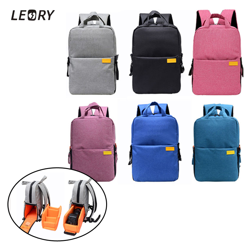 LEORY 2017 DSLR Camera Bags Digital Camera Backpacks Multifunctional Shoulder Video Bag for Nikon for Canon for Sony simple men s casual shoes with dark color and lace up design