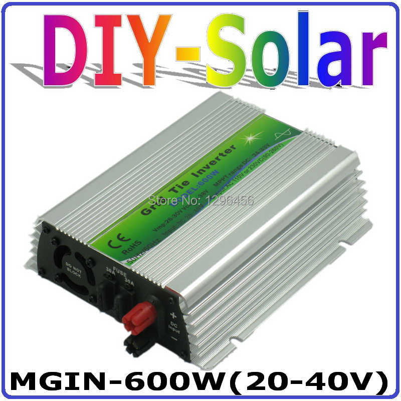 solar system 600W Grid Tie Inverter 600W On Grid Inverter, Solar Power Inverter Input DC20V~40V Output AC90V~260V Full Voltage solar power on grid inverter 500w dc 22v 60v ac 230v solar panel system grid tie inverter