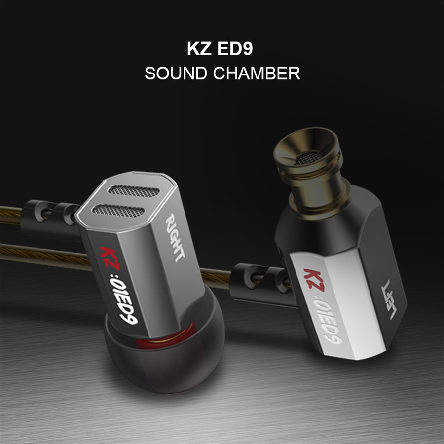 Original KZ ED9 Super Bass In Ear Music Earphone With DJ Earphones HIFI Stereo Earbuds Noise Isolating Sport Earphones With Mic 100% newest original kz zs3 3 5mm in ear earphones hifi auriculares earphones super bass running sport earbuds with microphone