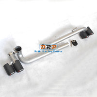 Car styling! 2 to 4 for Modified Car Rear Carbon Fiber Exhaust Pipe fit B*W 06 12 E90 E92 E93320 325 fit original car mtmp