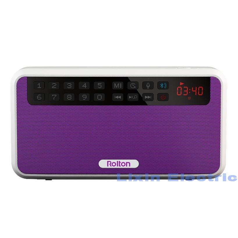 Prenosni stereo zvočniki Bluetooth Rolton E500 FM radio Clear Bass - Prenosni avdio in video - Fotografija 4