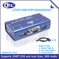CKL-72UA 2 Port VGA KVM Switch USB 2.0 with Audio Function 2 Computers 1 Monitor or Printer