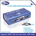 CKL-72UA 2 Portas VGA Switch kvm USB 2.0 com Áudio Função 2 Computadores 1 Monitor ou Impressora