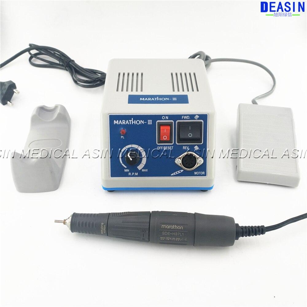 Dental Lab MARATHON Micromotor Machine N3 35K RPM SDE H37L1 Polishing Handpiece Saeyang
