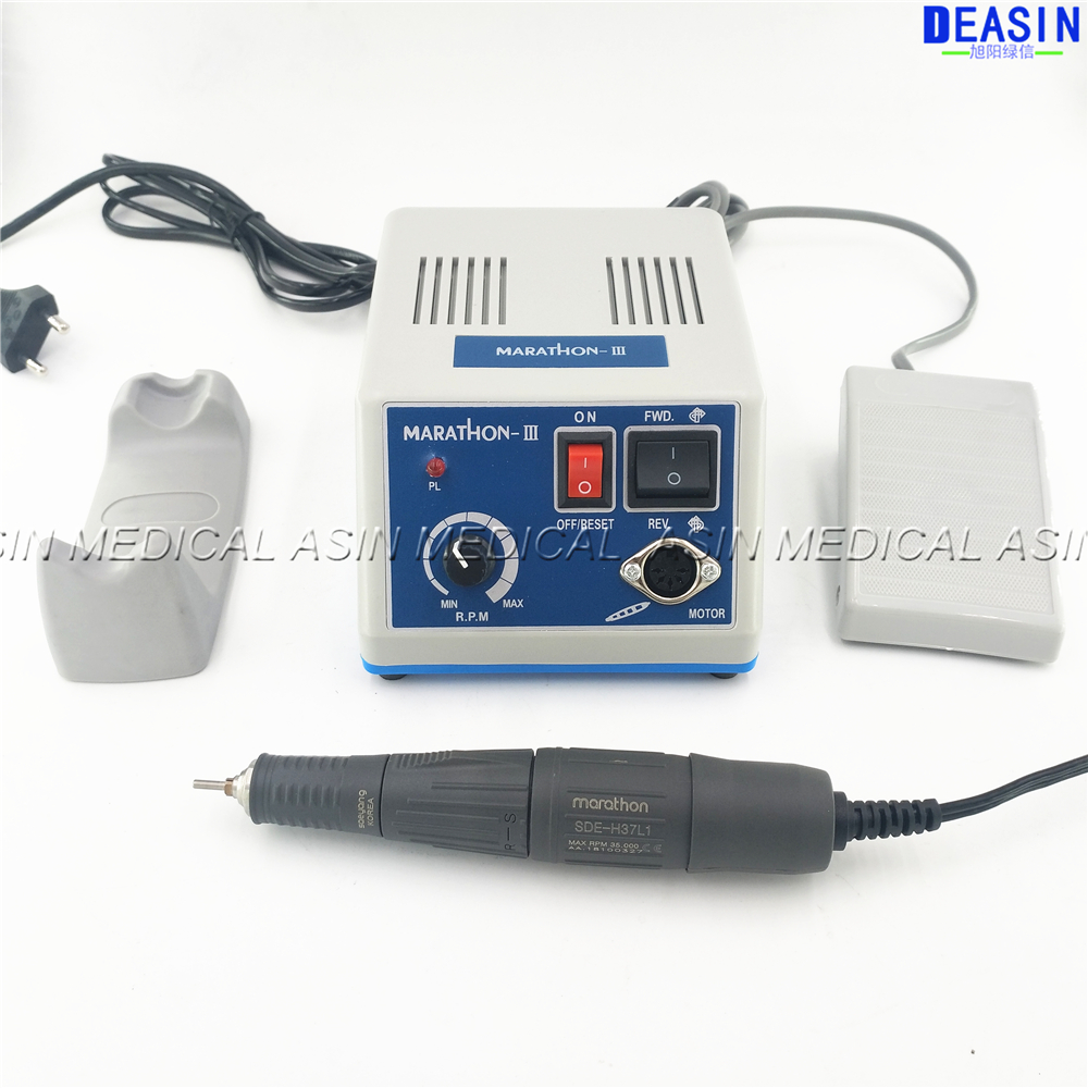 Dental Lab MARATHON Micromotor Machine N3 + 35K RPM SDE-H37L1 Polishing Handpiece  Saeyang