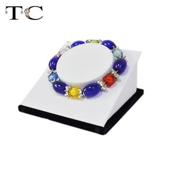 wholesale black velvet and white leathertte display Jewelry Display bracelet holder 12pcs/set bracelet jewelry organiser