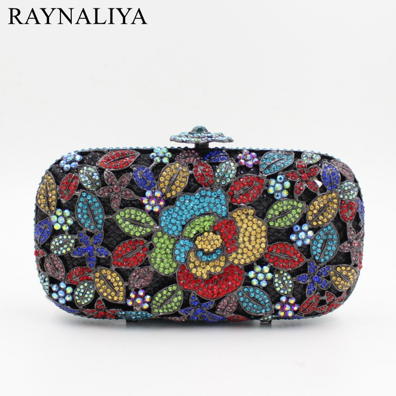 Women Fashion Floral Evening Bags Red Colour Purses Oval Shaped Clutches Wedding Happiness Crystal Party Bag Smyzh-f0302 luxury crystal clutch handbag women evening bag wedding party purses banquet