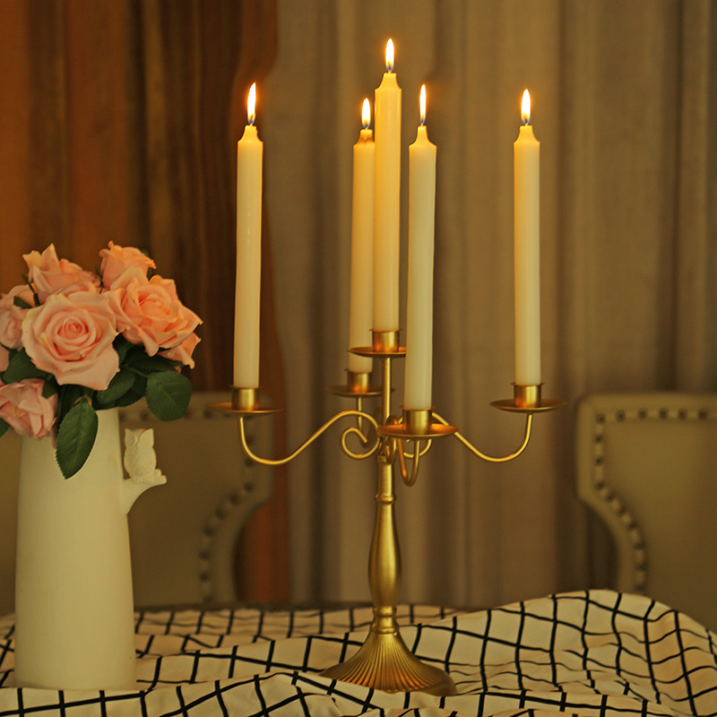 Silver/Gold 3-Arms Metal Pillar Candle Holders Candlestick Wedding Decoration Stand Mariage Home Decor Candelabra