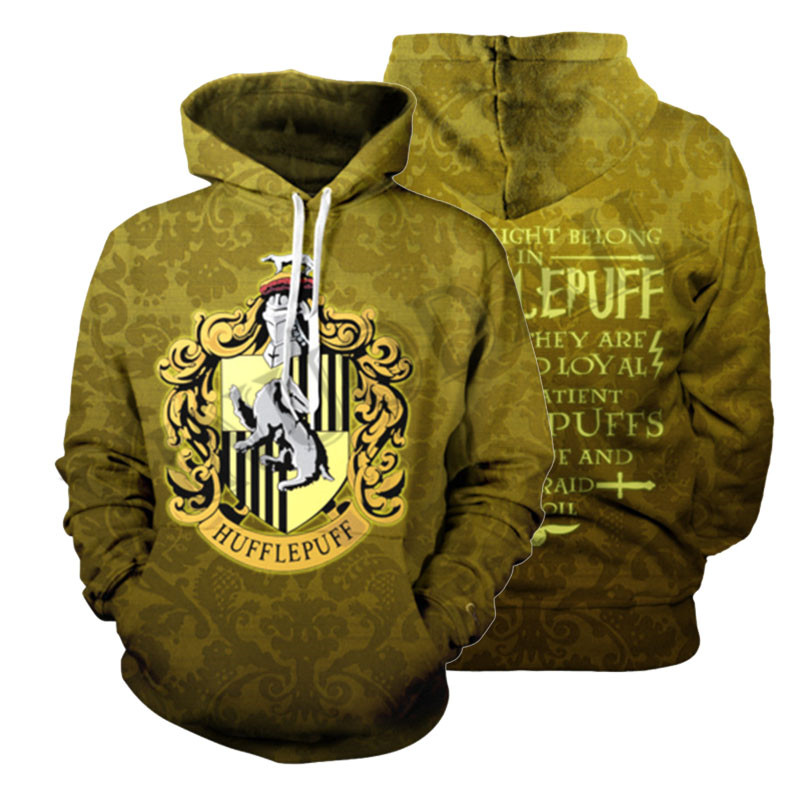 Wizardry 3D Printed Hoodie with Pocket Ravenclaw Gryffindor for Adult Unisex Sweatshirt Costume Hoodies Sweatshirts Men in Hoodies amp Sweatshirts from Men 39 s Clothing