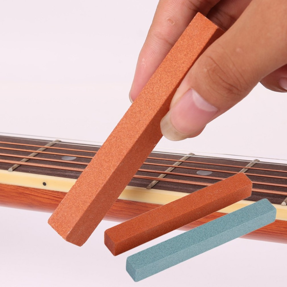 Grindstone Orange & Blue Sanding Polishing Beam For Guitar Bass Fretboard Fret String Luthier Tool