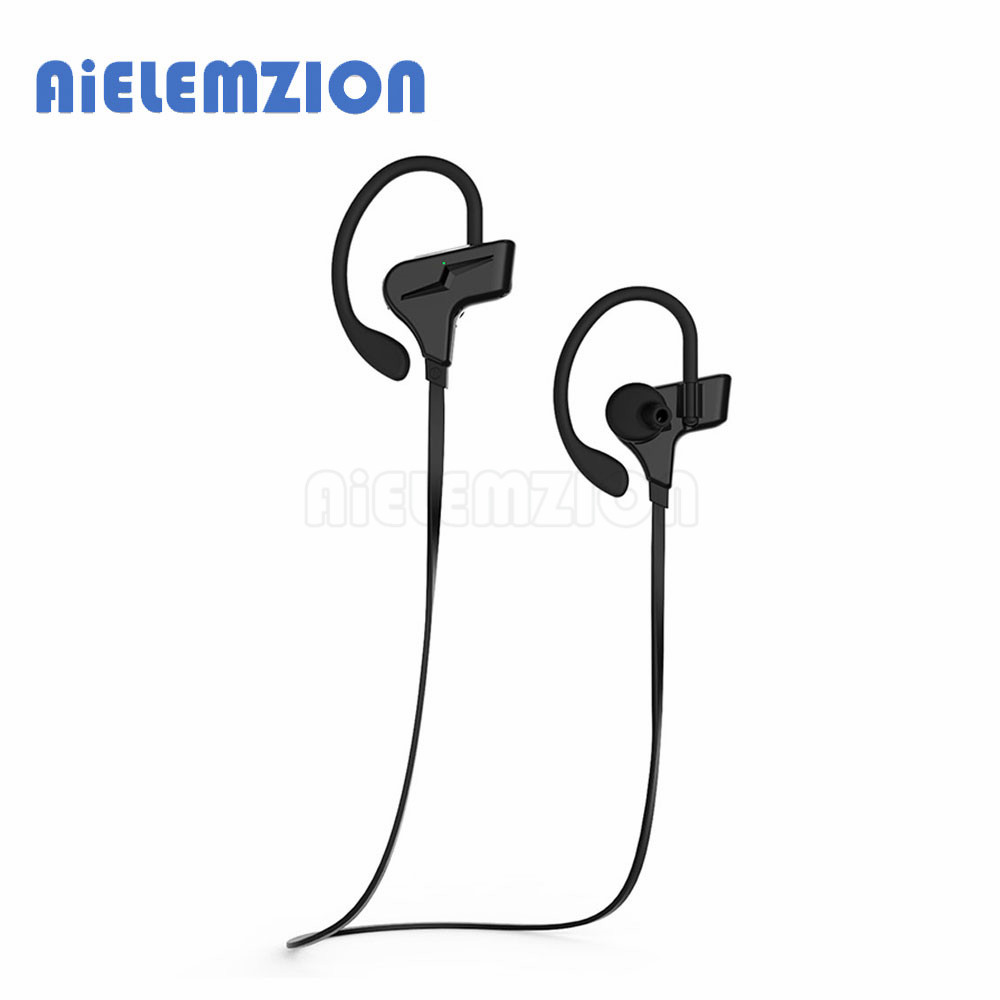 AiELEMZION Sports Wireless Bluetooth In-Ear Earphones with Microphone Waterproof IPX4 Headphones CSR V4.1 Headsets