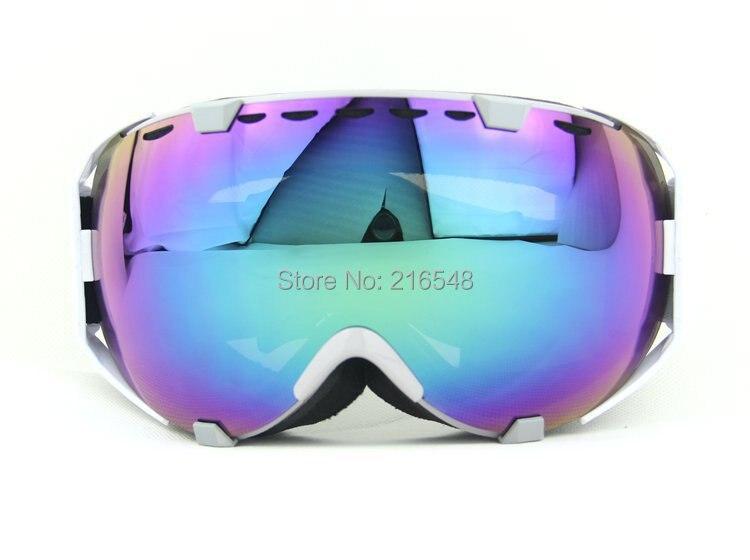 white oakley ski goggles atru  Free shipping Gray & White Frame Adult Snow Snowboard Ski Goggles Anti-Fog  Double Lens Purple Lens