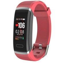 Rastreador de fitness smart watch pulseira Monitor de Freqüência Cardíaca À Prova D Água Esporte Pulseira Bluetooth Chamada Lembrete mensagem PKMi banda