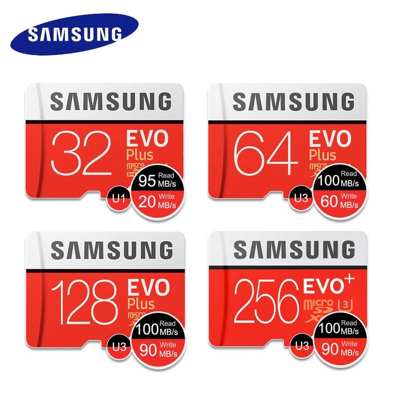 Samsung cartão de memória evo + microsd, 32g, 64g, 128g, 256g, sdhc 95 mb/s, classe 10 micro sd c10 uhs tf trans flash 32 gb, cartões de telefone