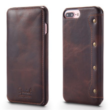 Luxury Flip Phone Wallet for Apple iPhone 6 Case Top Quality Cowhide Leather for iPhone 7 Case 7 Plus Back Cover for iPhone 6s