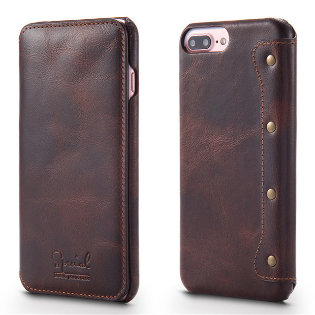 newest collection 1cc6e 9cc73 US $12.32 15% OFF Luxury Flip Phone Wallet for Apple iPhone 6 Case Top  Quality Cowhide Leather for iPhone 7 Case 7 Plus Back Cover for iPhone  6s-in ...
