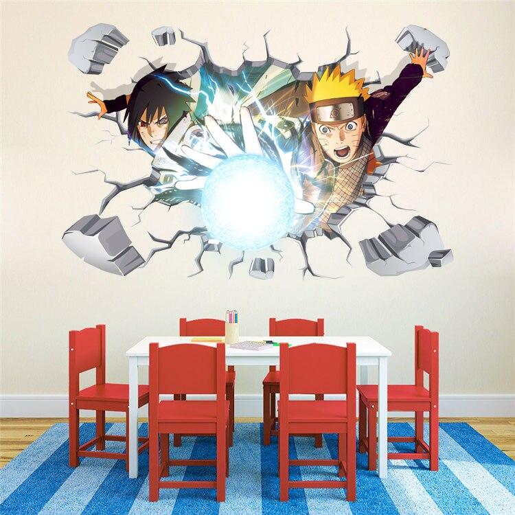 10pcs/Pack Cartoon DIY Naruto Japanese Amine Comic 3D Kids