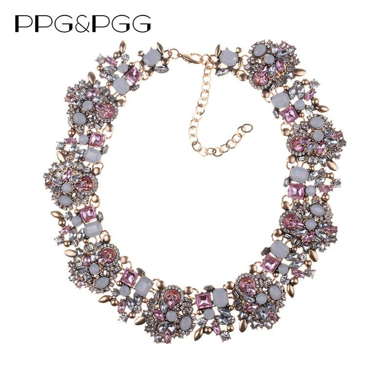 Modă de stras de cristal colier de nuntă coliere femei declarație - Bijuterii de moda - Fotografie 3