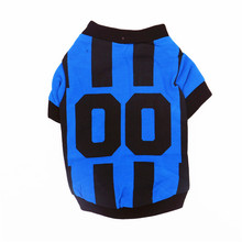 Summer cotton pet dog cloth sport puppy dog vest for small dog sport basketball foodball t shirt for dog lovely cotton dog vest for small dog grey