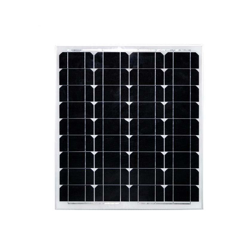 Portable Solar Panels For Camping 50w 12v Monocrystalline Solar Charger Solar Light Camping Car RV Phone Lamp LED Caravan