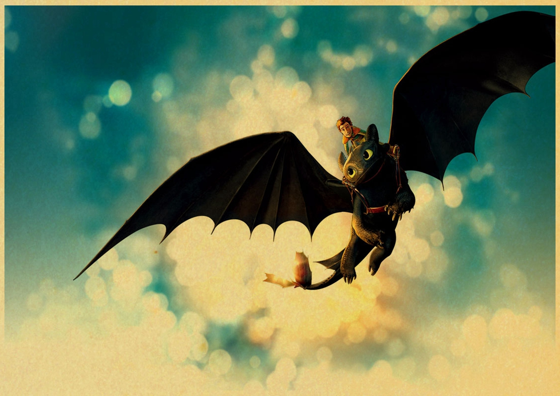 Beautiful How To Train Your Dragon Wall Art Sketch - The Wall Art ...