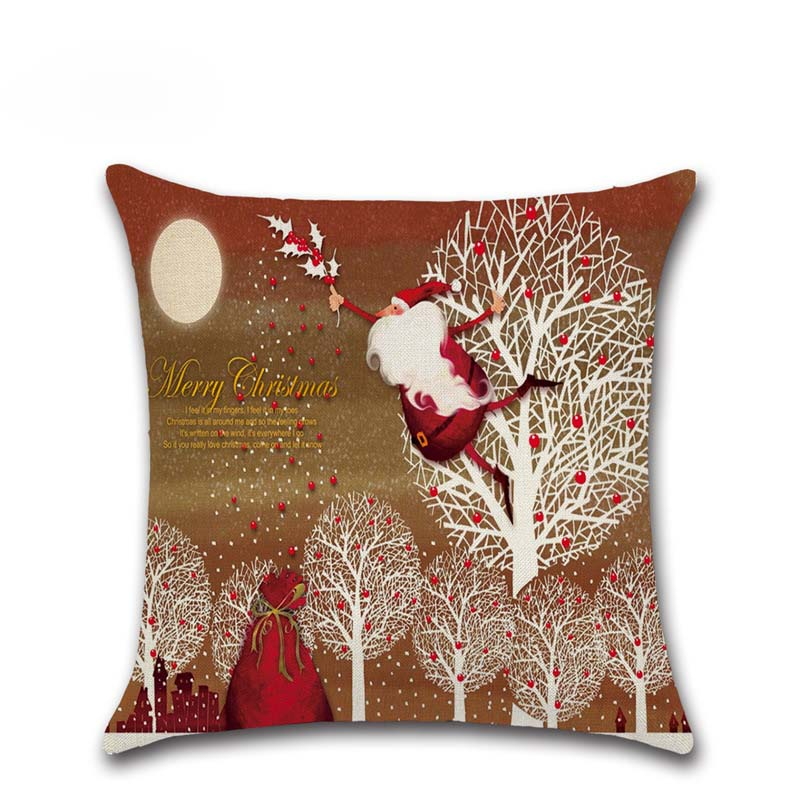 Christmas Xmas Linen Cushion Cover Throw Pillow Case Home: Free Shipping Hot Sale Multi Style Christmas Fashion Home