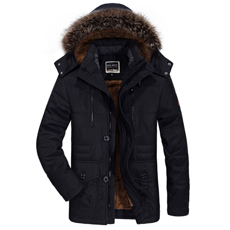 Winter Military Jackets Men Fur Collar Thick Velvet Warm Parka Mens Jackets And Coats Outwear Windbreaker Plus Size 5XL 6XL Coat 2017 winter jacket men cotton padded thick hooded fur collar mens jackets and coats casual parka plus size 4xl coat male