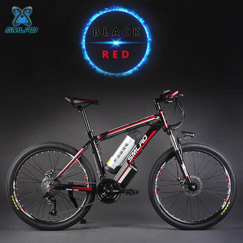 26 pouces frein à disque hydraulique 27 vitesses VTT électrique 48 V batterie au lithium vélos électriques intelligents 500 W moteur cadre en aluminium