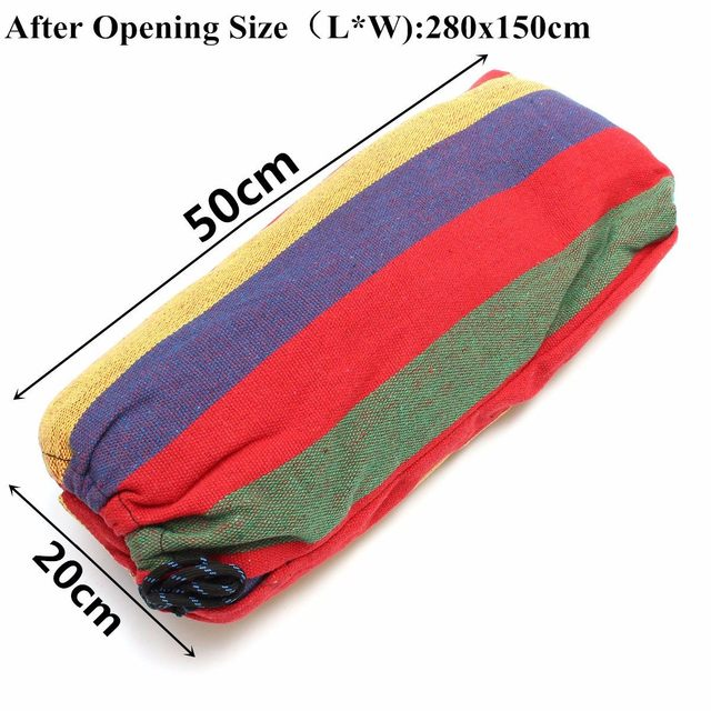 Portable Double 2 Person Hammock Green Fabric 450lb Air Hanging Swinging Outdoor Camping Hammock 280*150cm