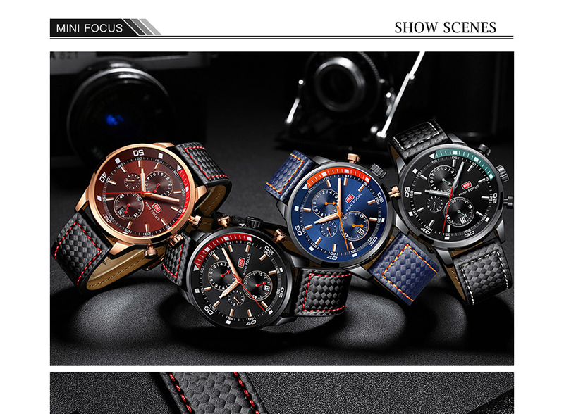Watches Men 2019 Luxury Brand MINI FOCUS Quartz Fashion Leather Watch Man Chronograph Male Wristwatch Men relogio masculino 2018 (10)