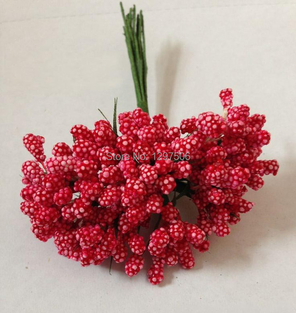 Artificial floral foam grass,mini fruit,flower stamen,diy ...