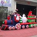 Рождественский надувной поезд  надувной поезд Санты  5 метров  надувная игрушка