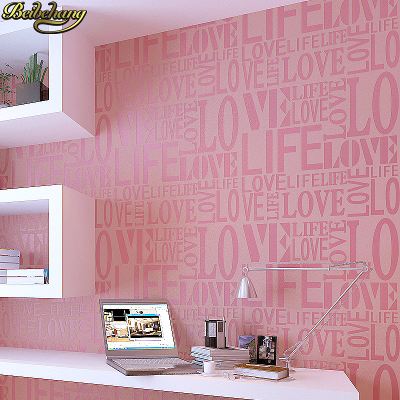 beibehang home decor Flock Words Textured Letters wallpaper for wall covering Home Decoration papel de parede 3d wall paper roll beibehang papel de parede 3d drag wallpaper for walls decor embossed 3d wall paper roll bedroom living room sofa tv background